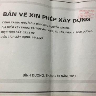 Xin phép xây dựng tại Thuận An Bình Dương