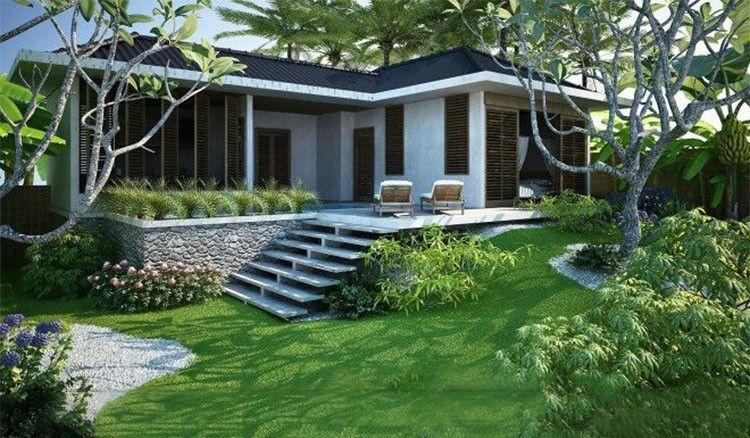 Mẫu Biệt thự vườn 1 tầng năm 2020