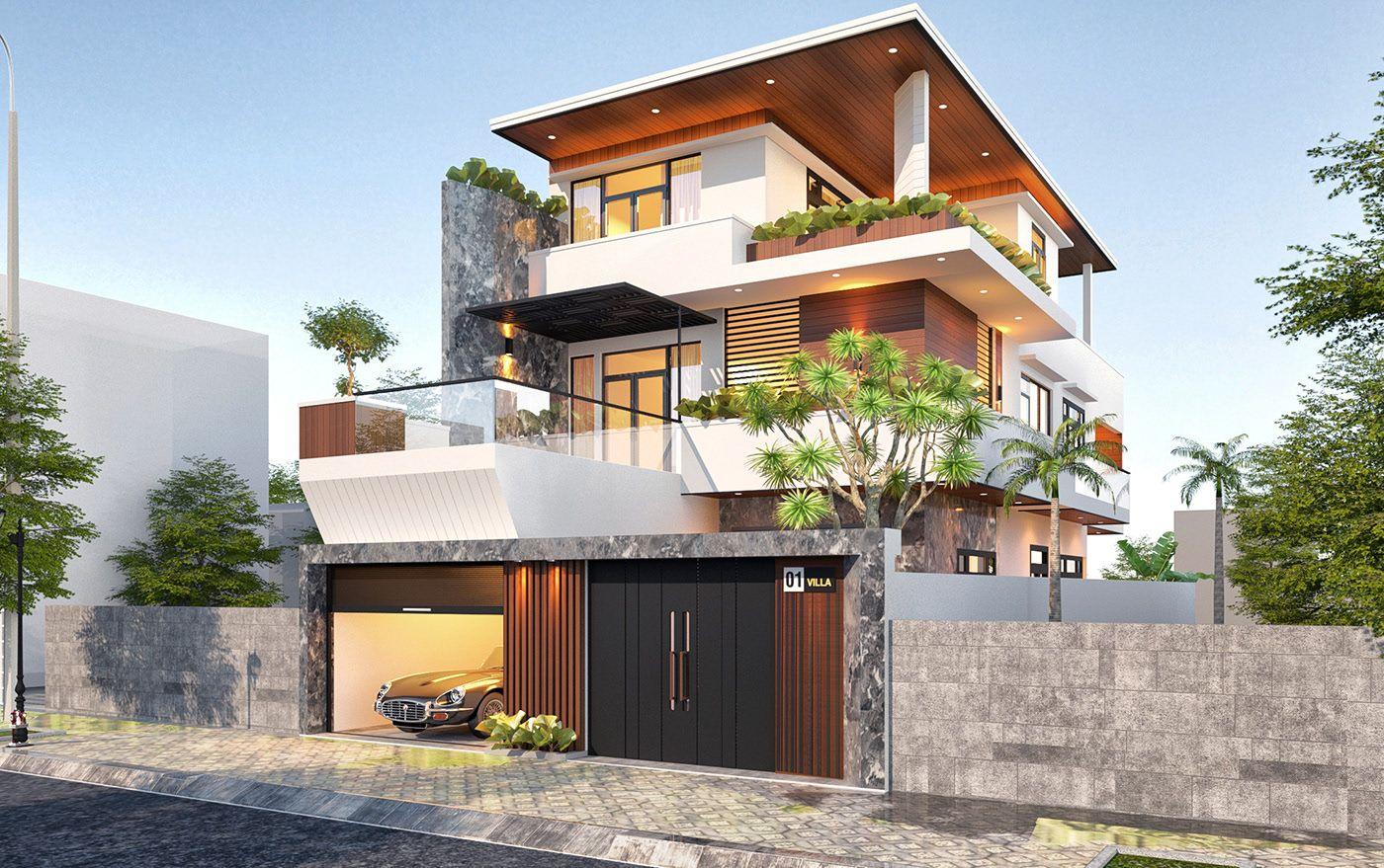 Thiết kế biệt thự anh Minh Bình Dương