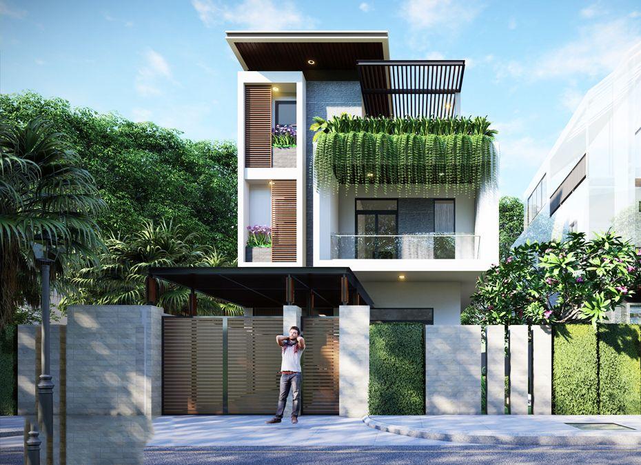 Mẫu biệt thự phố năm 2021