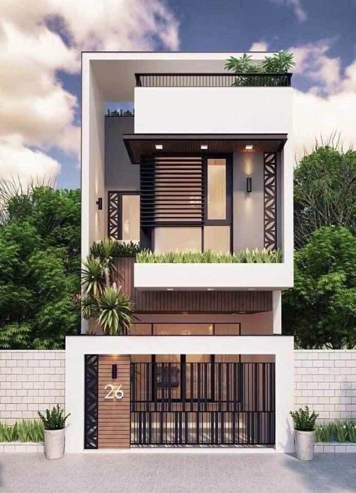 Mẫu nhà phố 2 tầng năm 2021